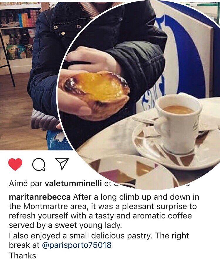😍 Pastel de nata+cafezinho🔺🇵🇹✨Paris-Porto😋Obrigada @maritanrebecca 💕☕️ 🥰 📷  #paris #porto #ruedesmartyrs #montmartre #café #bica #expresso #expressoperfeito #pasteldenata #pasteisdenata #portugal #cosy #lisboa #top #coffee #cool #coffeetime #coffeeaddict #yummy #duodechoc