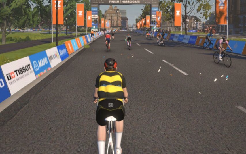 Prepare to #TrackWorlds on #Yorkshire2019 world course by @GoZwift 😊🌈