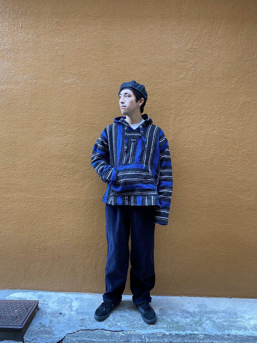 Mexican ParkaDOCKERS Corduroy Pants春にちょうど良いメキシカンパーカーざっくり羽織っちゃってください♪光沢感あるちょっとお上品なコーデュロイパンツもまだまだ使える優秀ちゃん