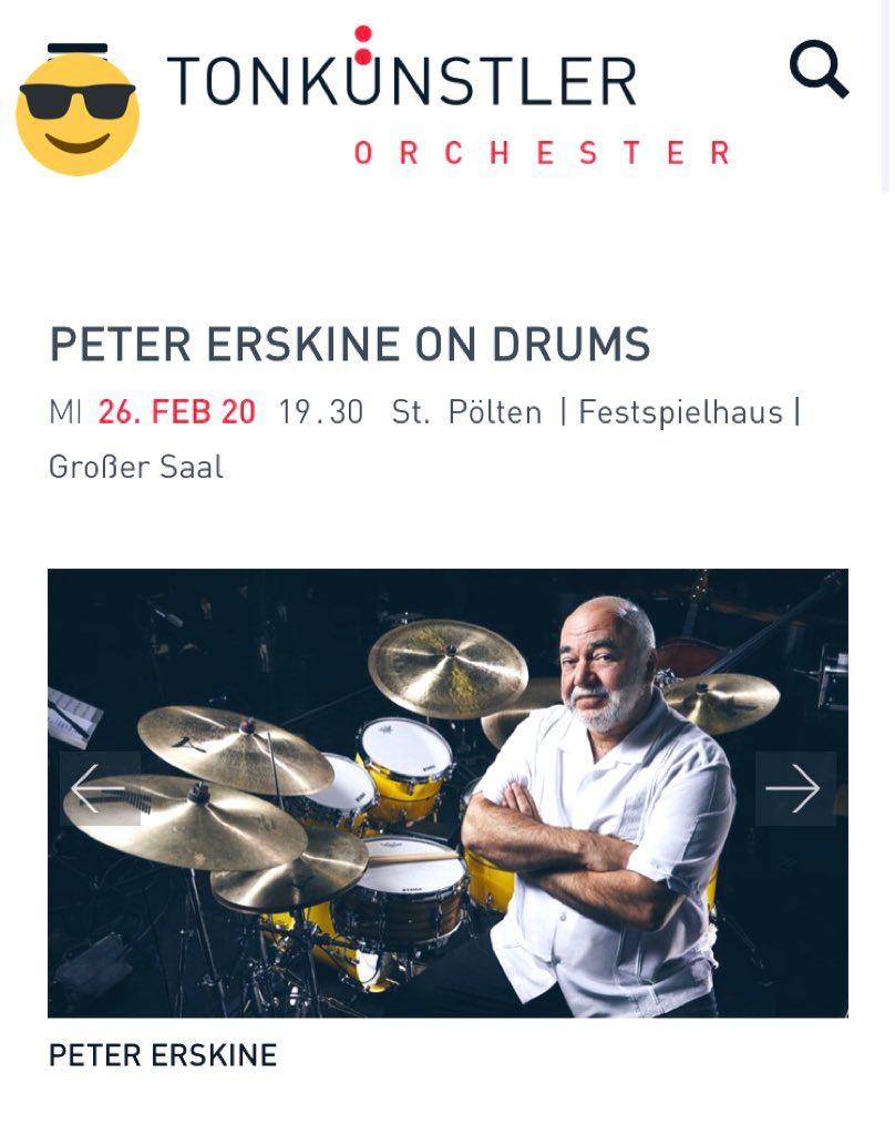 Great opportunity to perform Mark-Anthony - Turnage with the legend Peter Erskine» Concerto for drums and Orchester #saxophone #wien #siukinarts #tonkünstler