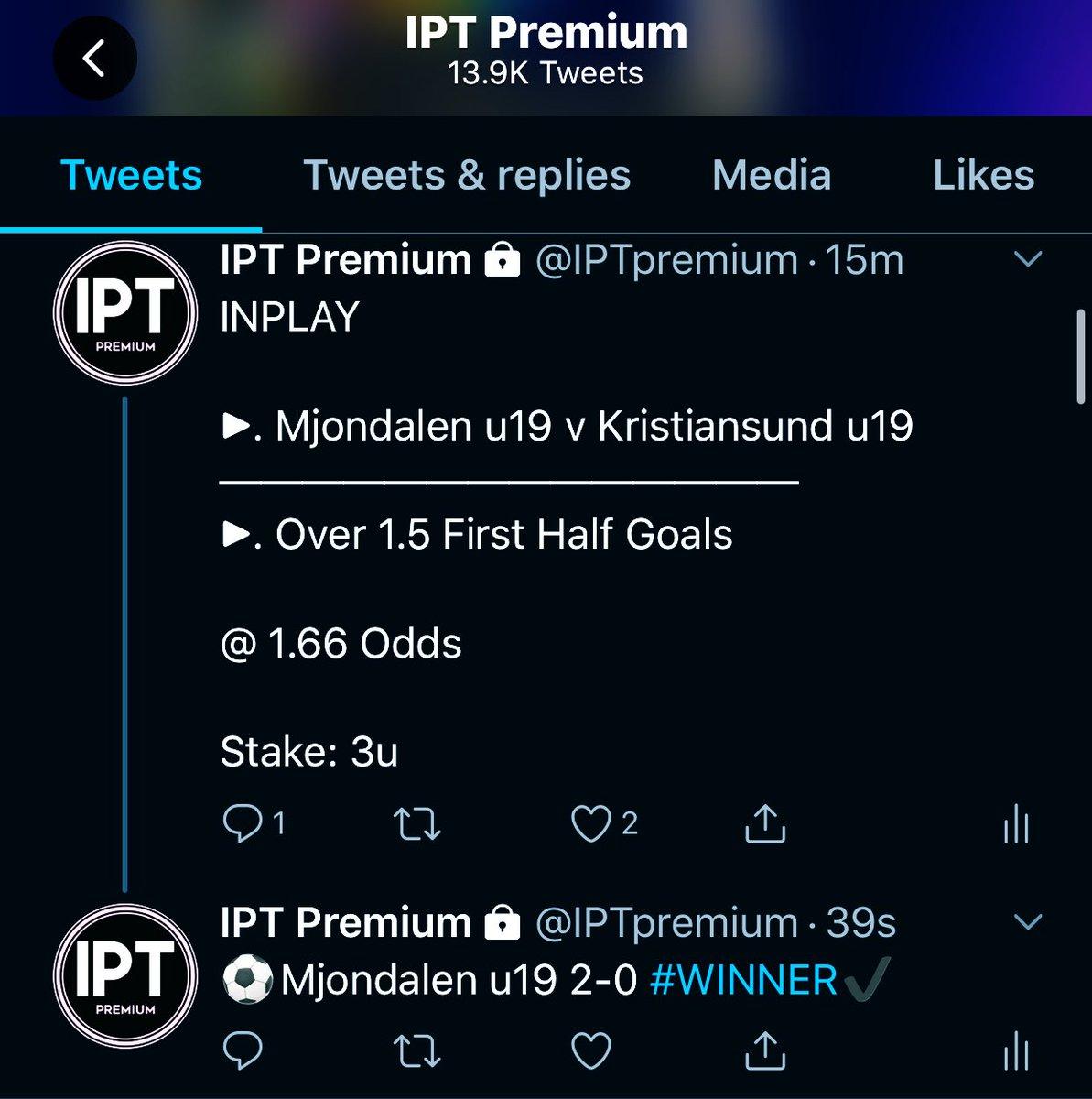 3/3 WINNERS ON #IPTpremium ALREADY   6.1u PROFIT IN 30 MINUTES  (£61 betting £10 Per unit)   We are just getting warmed up <br>http://pic.twitter.com/FDL9mpmLnH