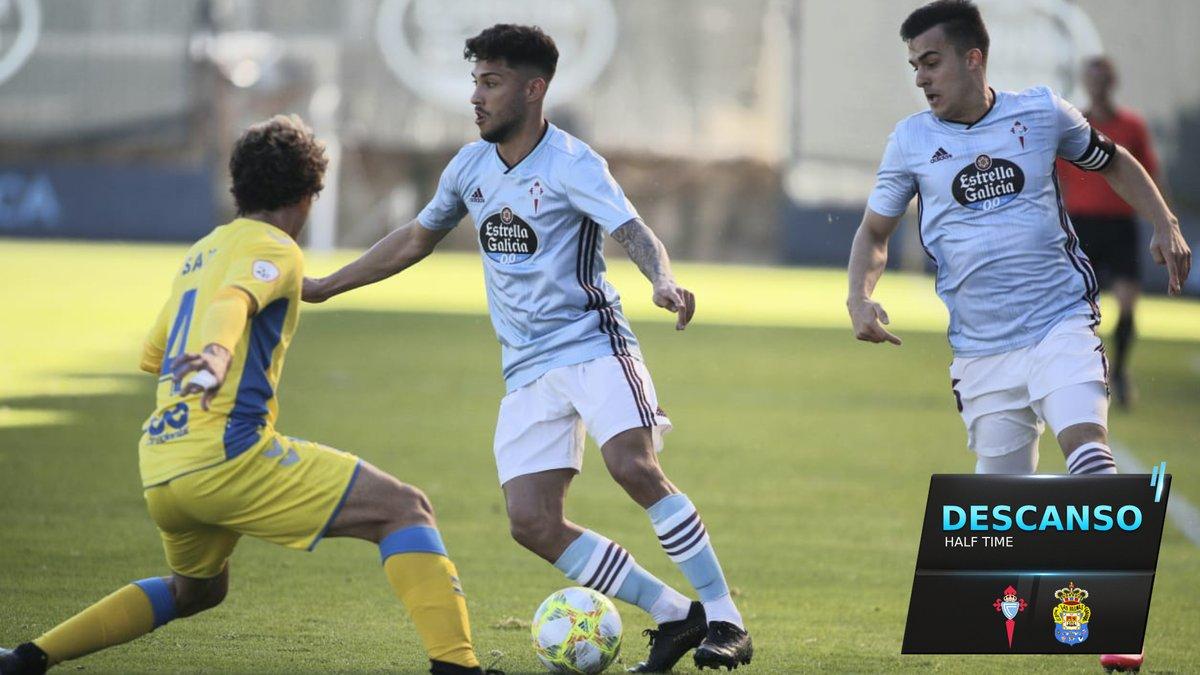DESCANSO ⏸ O gol de Jacobo marca a diferenza nesta primeira parte.  CEL 1-0 LPA  #CeltaLasPalmas #ACanteira