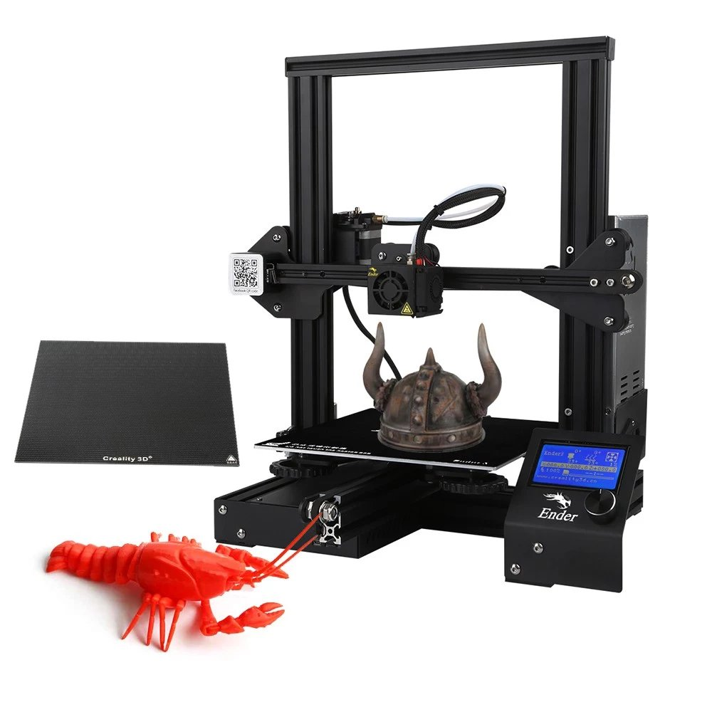 Creality 3D Ender 3X Upgraded High-precision #DIY #3dprinter Kit with Glass Plate / Self-assemble  220 * 220 * 250mm Printing Size $178   cashback -  #3dmodeling #3Dprinting #hobby #business