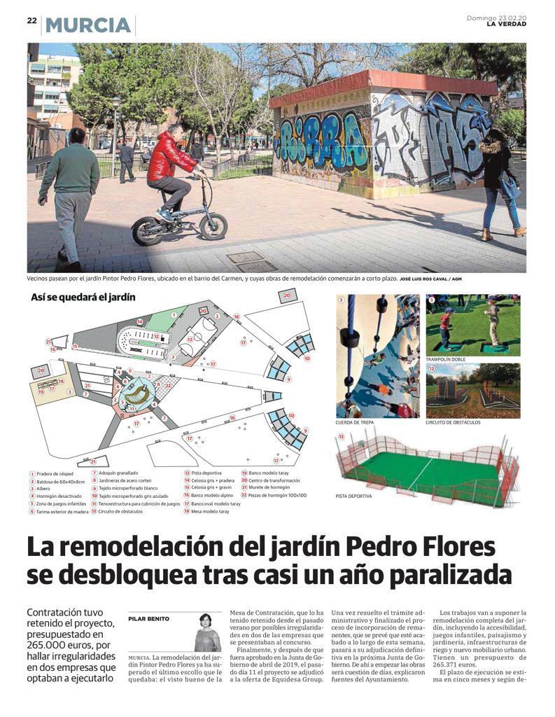 En pocos días comenzará la tan esperada remodelación del jardín Pintor Pedro Flores, que contará con nuevos juegos infantiles, una pista deportiva y renovadas zonas verdes. 😊😊💙💙💙 #BarriodelCarmen
