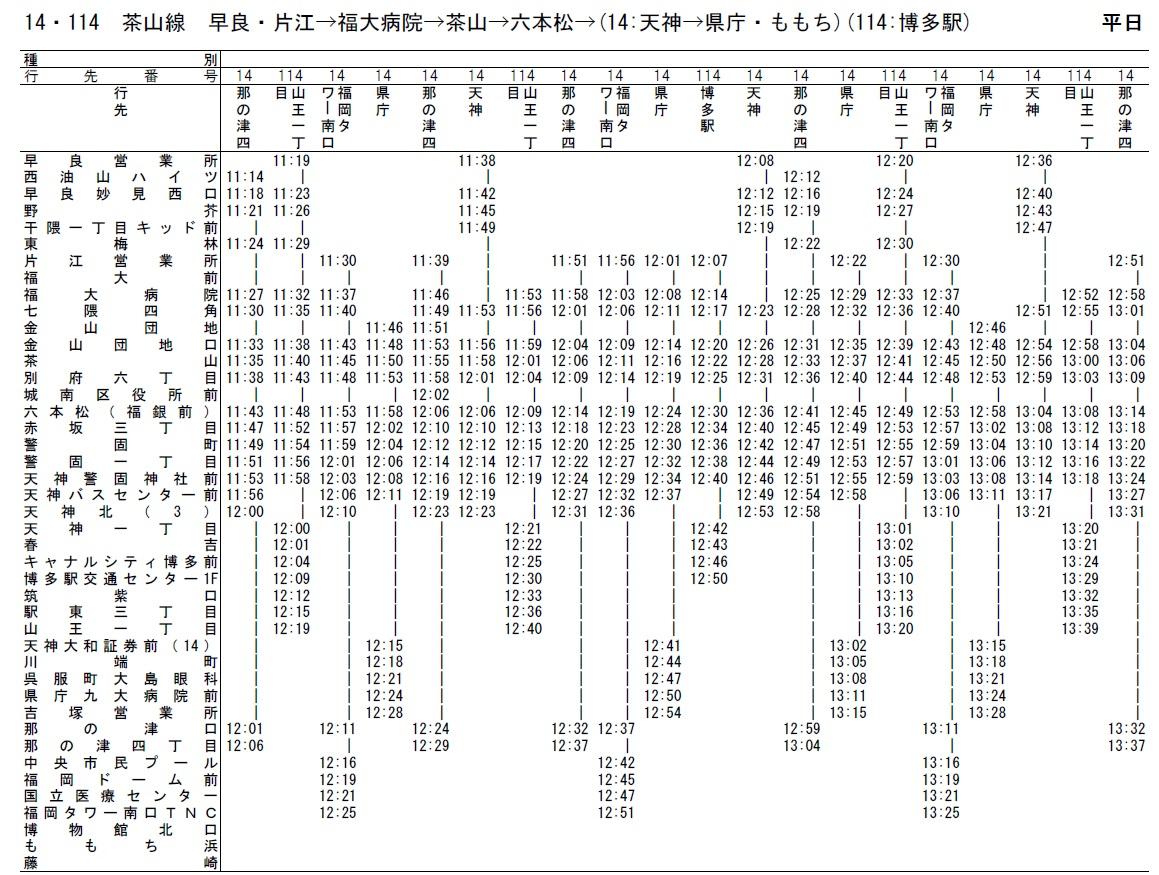 地下鉄 時刻 表 福岡