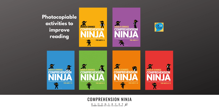 NEW: Book series - Comprehension Ninja by @VocabularyNinja via @BloomsburyEd - Learn more about these essential handbooks for primary school teachers, filled with strategies and photocopiable resources supporting… https://ukedchat.com/2020/02/23/comprehension-ninja/…pic.twitter.com/HuSwp40qGo
