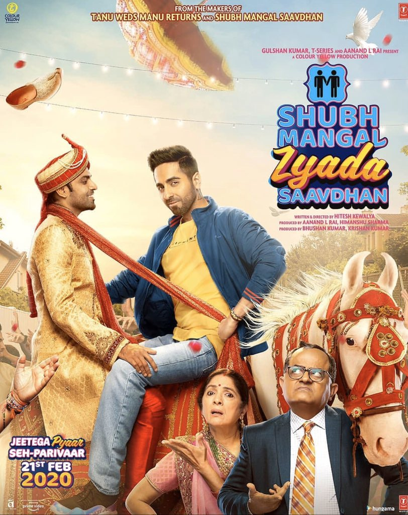 Movie reviews that nobody asked for-  #ShubhMangalZyadaSaavdhan Ayushman Khurana never ever disappoints. What an amazing movie. Amazing acting. Beautiful dialogues  A must watch. (Ps- take your parents along)  4.5/5 pic.twitter.com/xRcjHneRa2