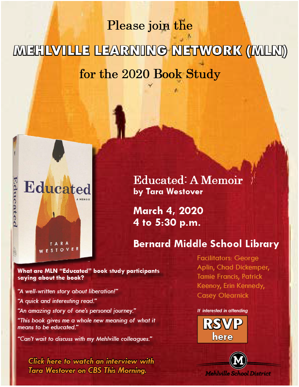 9 more days to the book talk @MehlvilleSD. Let me know if you can attend. #msdr9