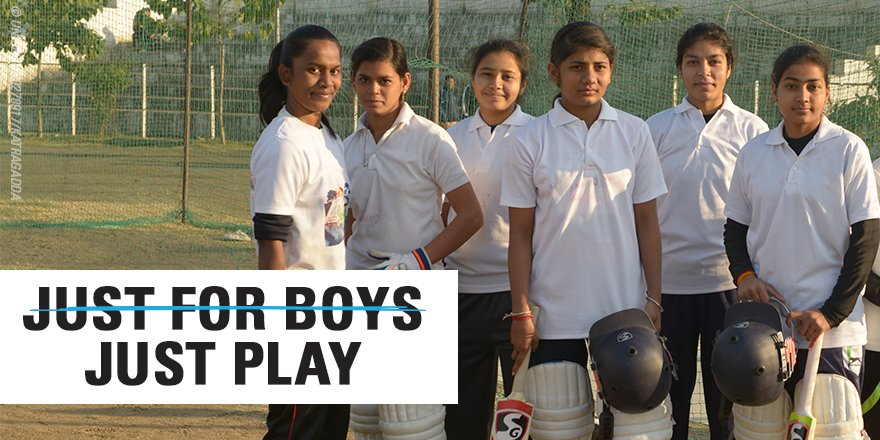 There's no such thing as a 'boys sport'. When girls are on the field - everyone's a winner.  This @T20WorldCup, we're partnering with @ICC to show girls that the qualities that define cricket aren't limited by gender, language, culture or country.  #ForEveryGirl, a chance to play
