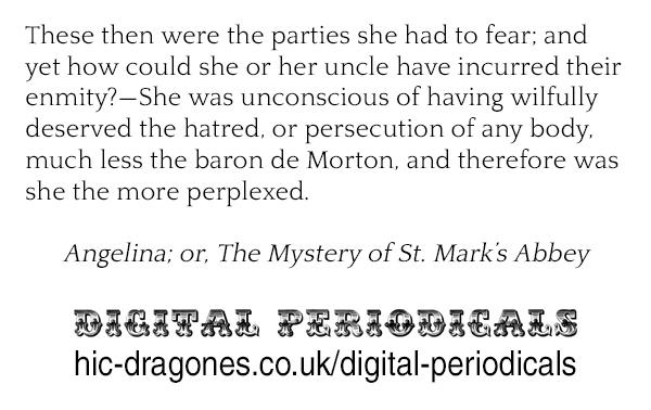 Angelina; or, The Mystery of St. Mark's Abbey - https://tinyurl.com/y34ajyco #19thcentury #fiction #ebook #pennydreadfulpic.twitter.com/xqdqN9e5wg