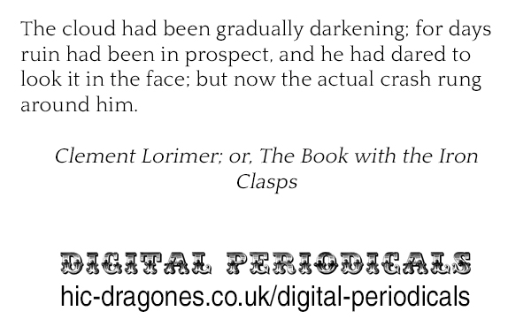 Clement Lorimer; or, The Book with the Iron Clasps - https://tinyurl.com/y3r9ao9n #19thcentury #fiction #ebook #pennydreadfulpic.twitter.com/UYL4lXt7jE