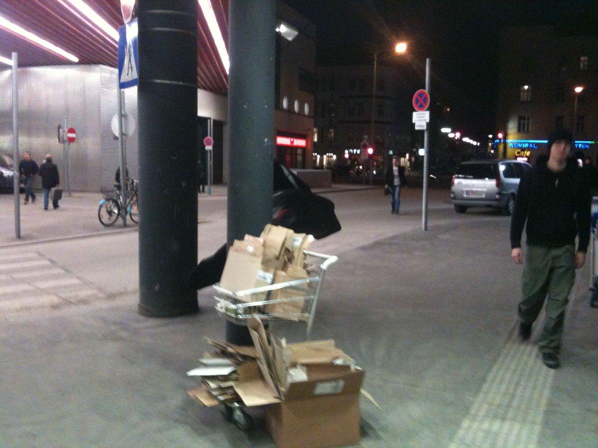 #Einkaufswagenkunst 1150 #Wien Westbahnhof