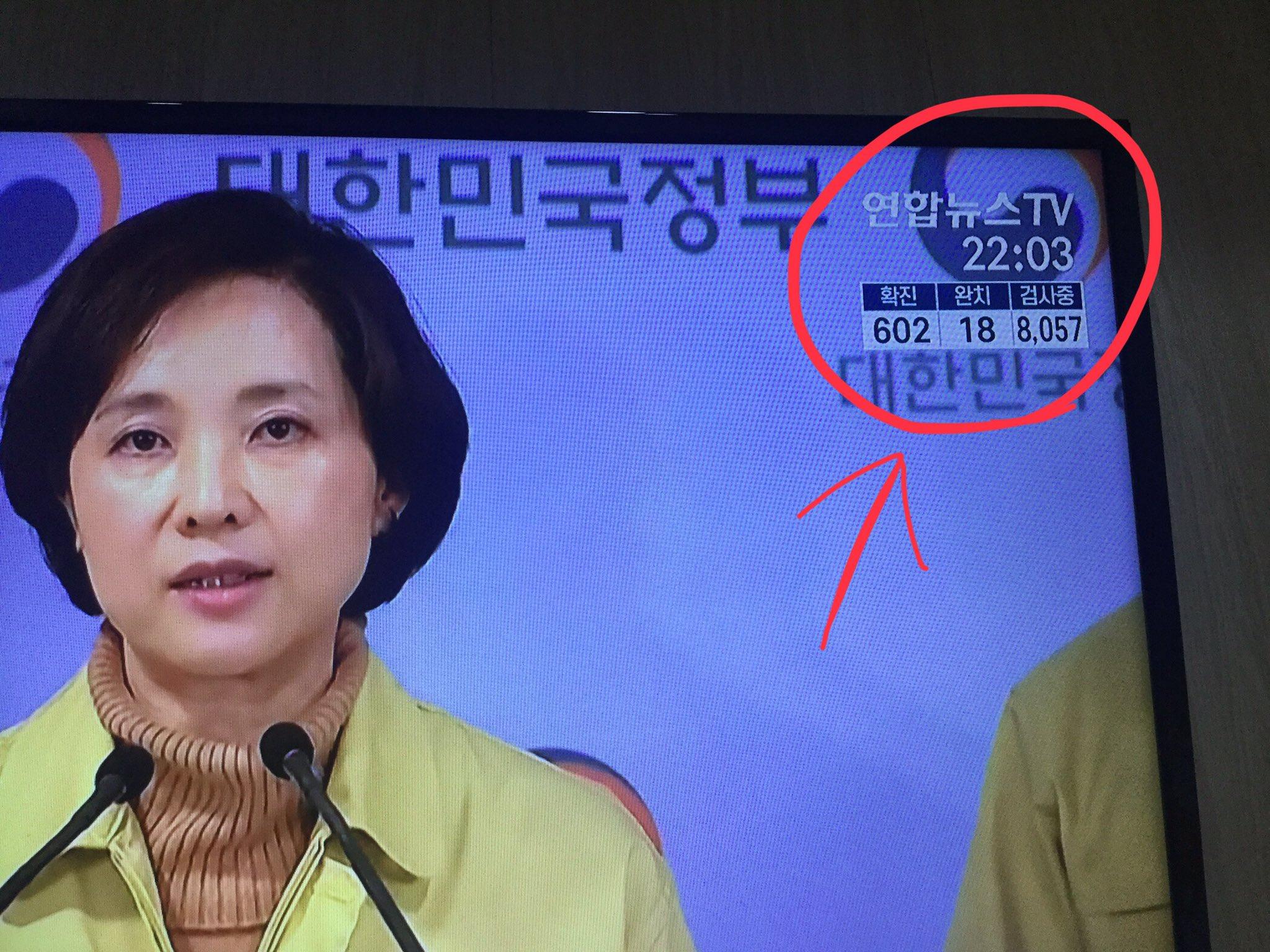 韓国では「コロナ感染数」が報道番組でカウントされていて、一目で分かるようになっている!!