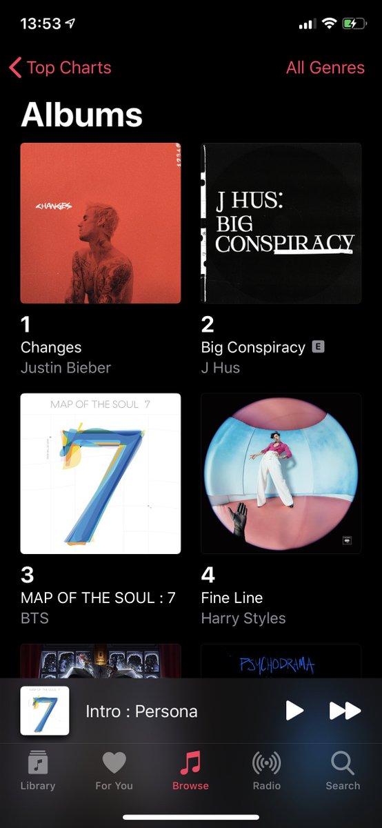 [UK Apple Music 200 - Albums] 3 - Map Of The Soul: 7 @BTS_twt<br>http://pic.twitter.com/hMdTZksfXE