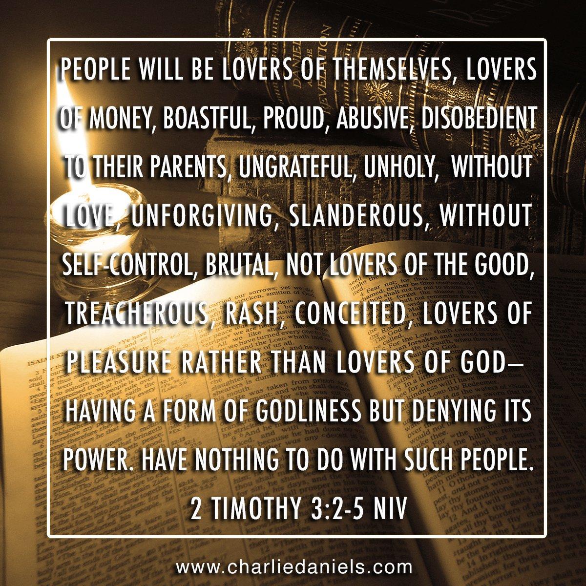 2 Timothy 3:2-5 NIV