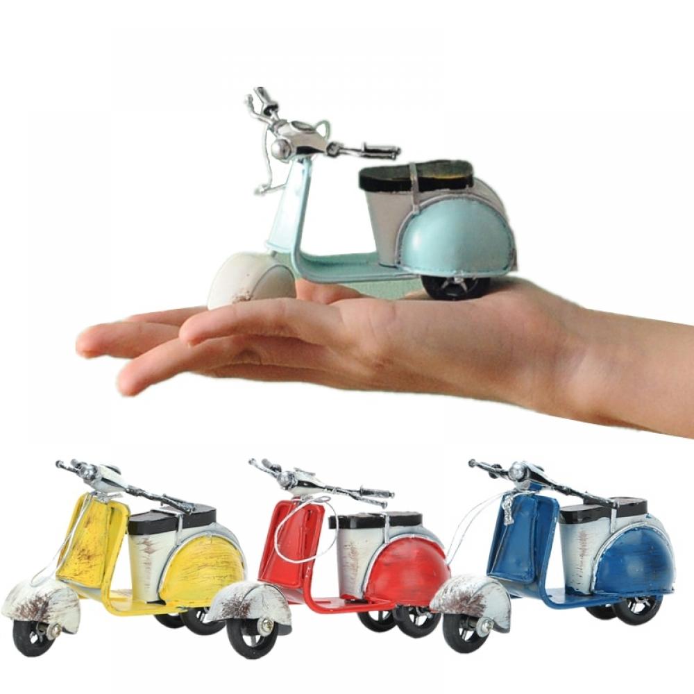 #vintage #designer Colorful Metal Motor Scooter Figurine
