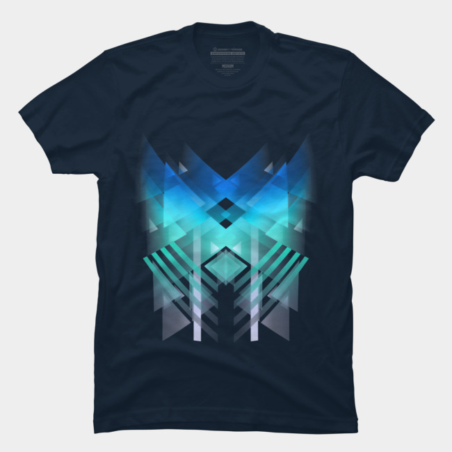 Triangle blue @designbyhumans by @Boby_Berto  #triangles #shapes #abstract #colors #blue #cool #popular #tshirt