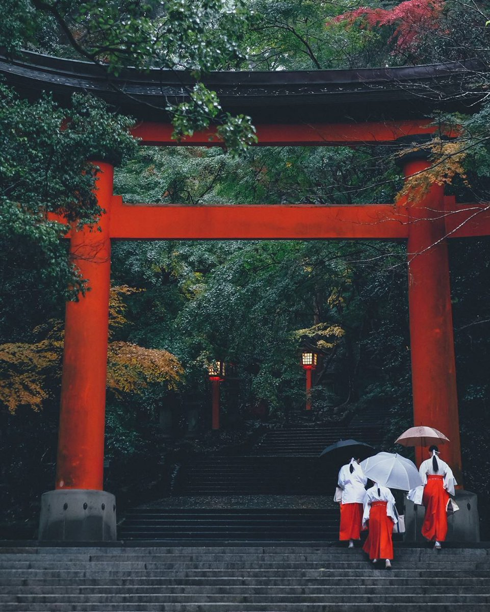 #HelloFrom a rainy morning at the Usa Shrine in Oita Prefecture, Japan.