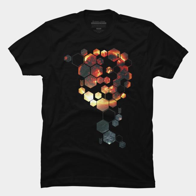 SunHexagon @designbyhumans by @Boby_Berto  #sun #hexagon #fire #geometry #shape #abstract #cool #modern #tshirt