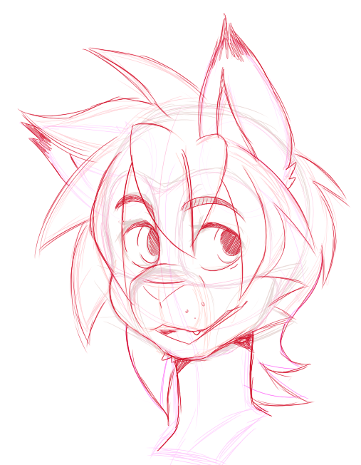 working on a cute new icon for myself! super happy with how it's coming along