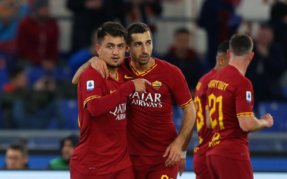 RT @goal: Roma 4-0 Lecce ⚽ Under ⚽ Mkhitaryan ⚽ Dzeko ⚽ Kolarov https://t.co/ImZ3gwmEe0