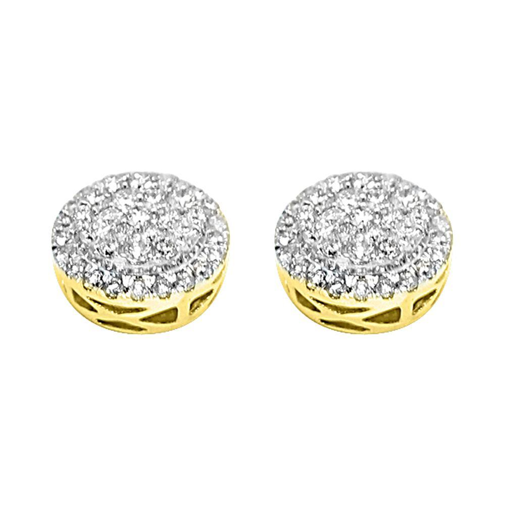 14K Yellow Gold 0.95 Carats Diamond Radiant Circle Earrings! FREE SHIPPING (USA) OVER $75  #blingbling #hiphop #hiphop #style #money #cash #jewels #luxury #blingbling #bling #jewelry #newbling #newstyle #save #money #cheap #clearance #hip #Badbunny https://www.hiphopbling.com/collections/hip-hop-earrings/products/14k-yellow-gold-0-95-carats-diamond-radiant-circle-earrings…