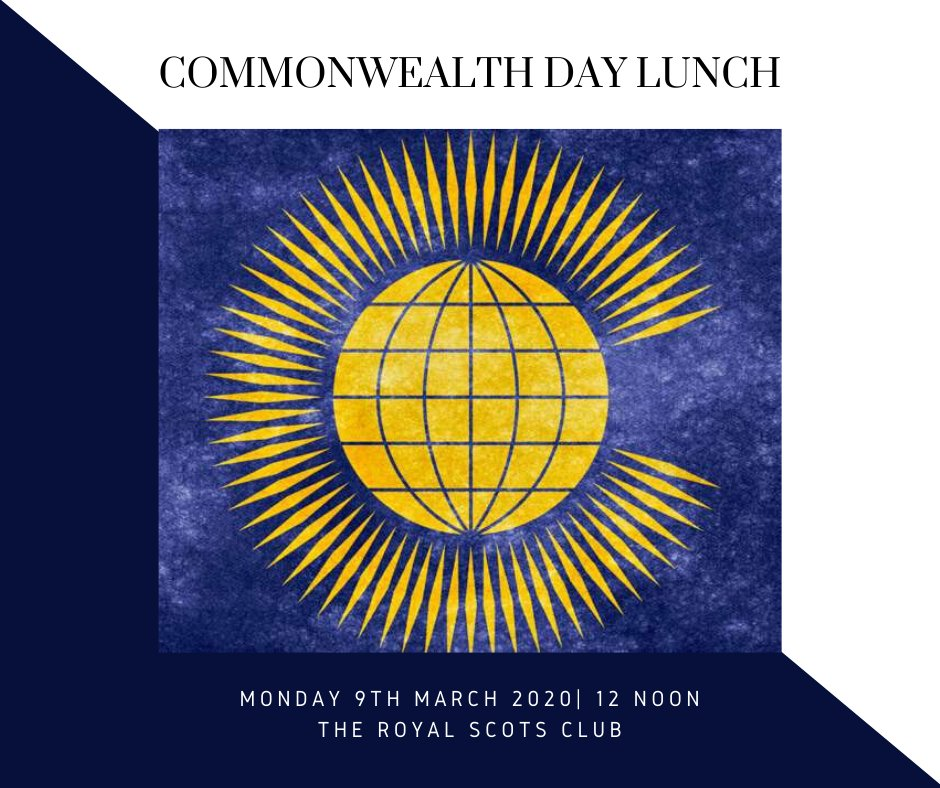 Join us on Monday 9th March to mark Commonwealth Day with guest speaker, Mrs Mary Duncan, the Honorary Consul of Canada in Scotland! Book your ticket for £22pp: https://www.eventbrite.com/e/commonwealth-day-lunch-tickets-89990876133 …  #commonwealth #royalscotsclub #commonwealthday pic.twitter.com/r9L6CBM0rA
