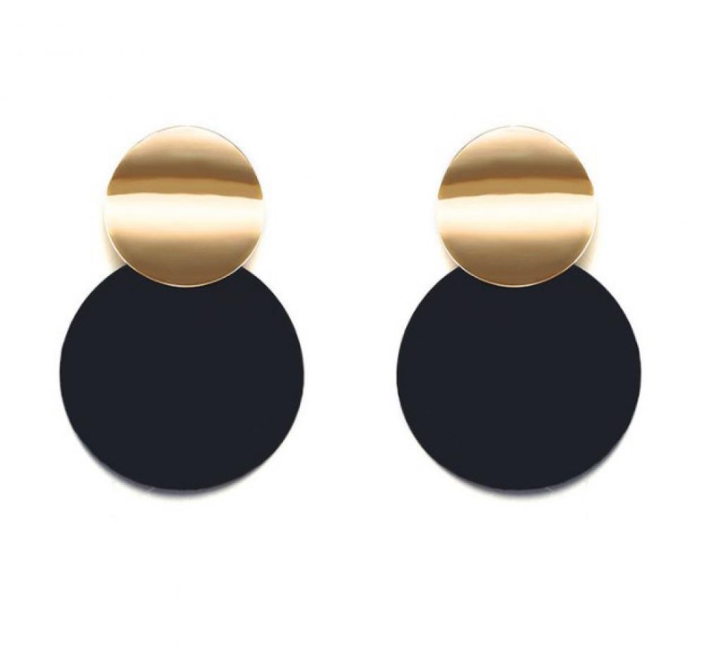#cool #cute Trendy Eclipse Double Plate Earrings
