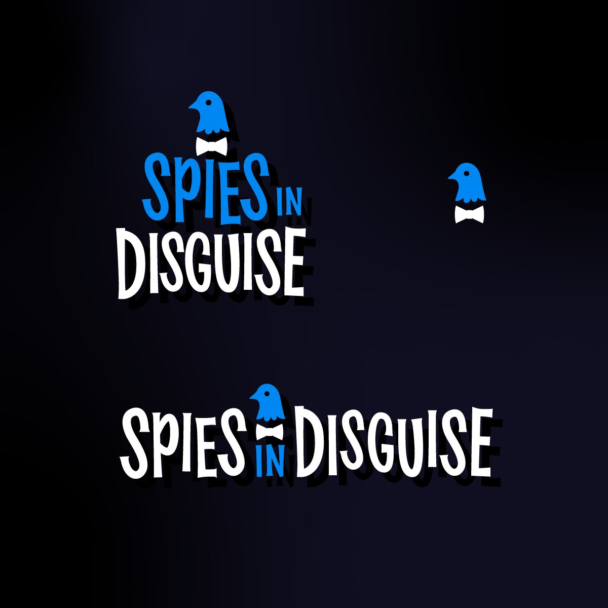 A concept from our custom lettering treatments for Spies in Disguise, an animated spy movie from Blue Sky and 20th Century Fox. Each solution we delivered had to have an element that could pop out and act as a covert badge icon. Not final movie art, but a fun workup exploration. pic.twitter.com/H3N4zvlNxm