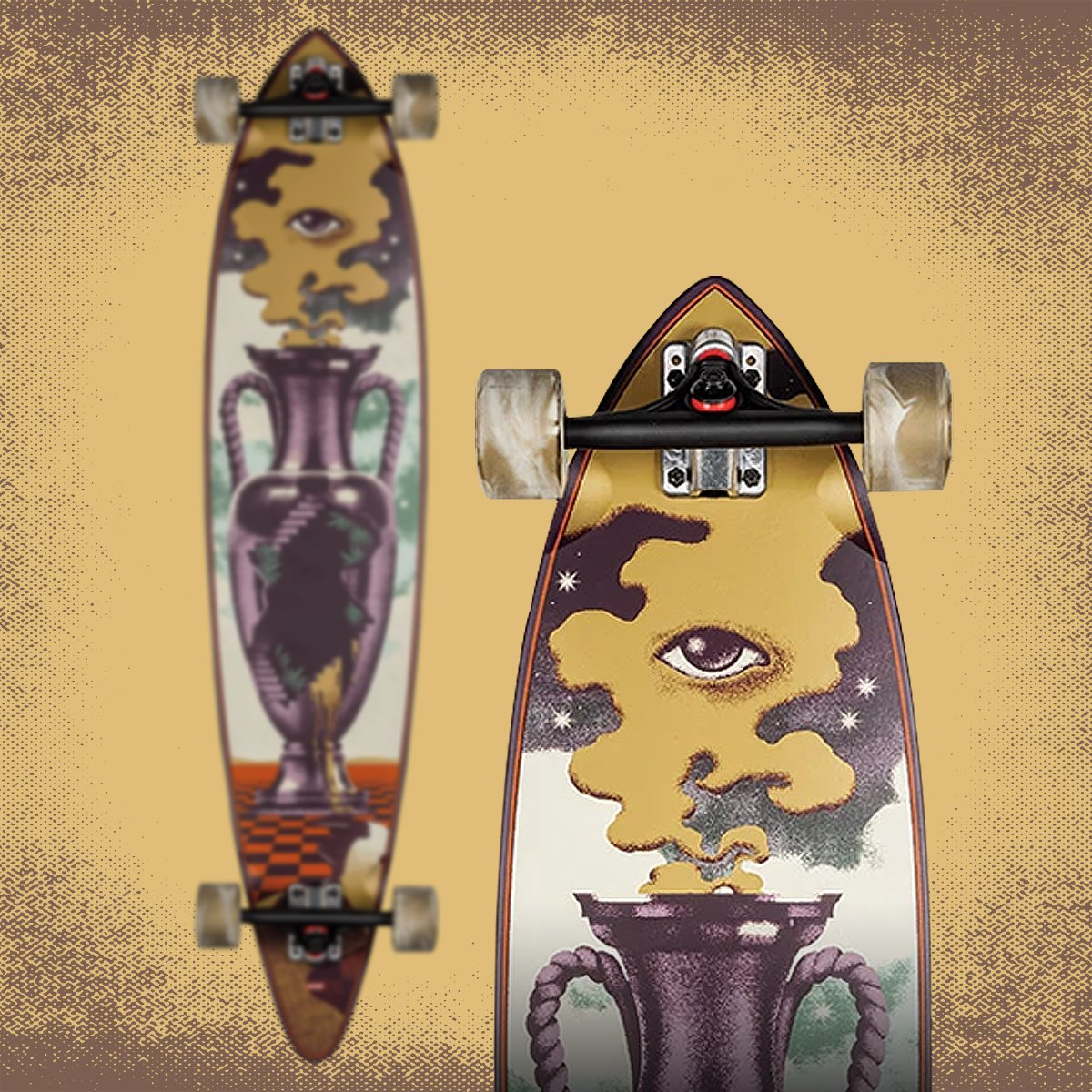"""The Globe Outpost pintail complete measures 9.75""""x44"""" and includes reverse kingpin Slant trucks and 70mm Globe wheels. https://tgmskateboards.com/globe-longboard-pintail-44-outpost-9-75-x-44/… . #globe #globebrand #globeskateboards #longboard #longboarding #slanttrucks #pintail #skate #tgmskateboardspic.twitter.com/AIkBetR6Qs"""