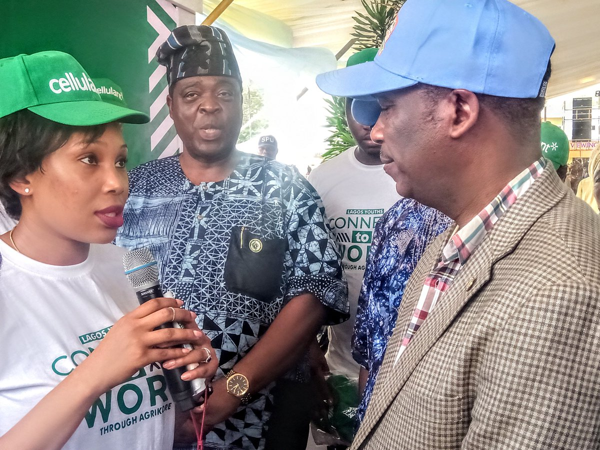 The Deputy Gov Lagos state Dr Obafemi Hamzat @drobafemihamzat and both Commissioner of #Agriculture Lagos & Ogun state with SA to Gov SanwoOlu @Abi_Olusanya as Lagos state endorses #Cellulant Lagos Youth Connect To Work at #EkoCityFarmersMarket   @BolajiAkinboro @Cellulantpic.twitter.com/qglP0db8oy