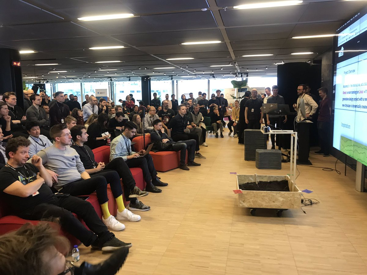 Who's winning the AEC Hackathon 2020?Follow live stream here: https://t.co/2YcKYxkQrm22 teams presents their solutions to #Tech related challenges within #architecture, #engineering, #construction right now in @BLOXHUBdk⚡️🤓💡#hackbloxhub2020 @TorbenKlitgaard @ShaanHurley