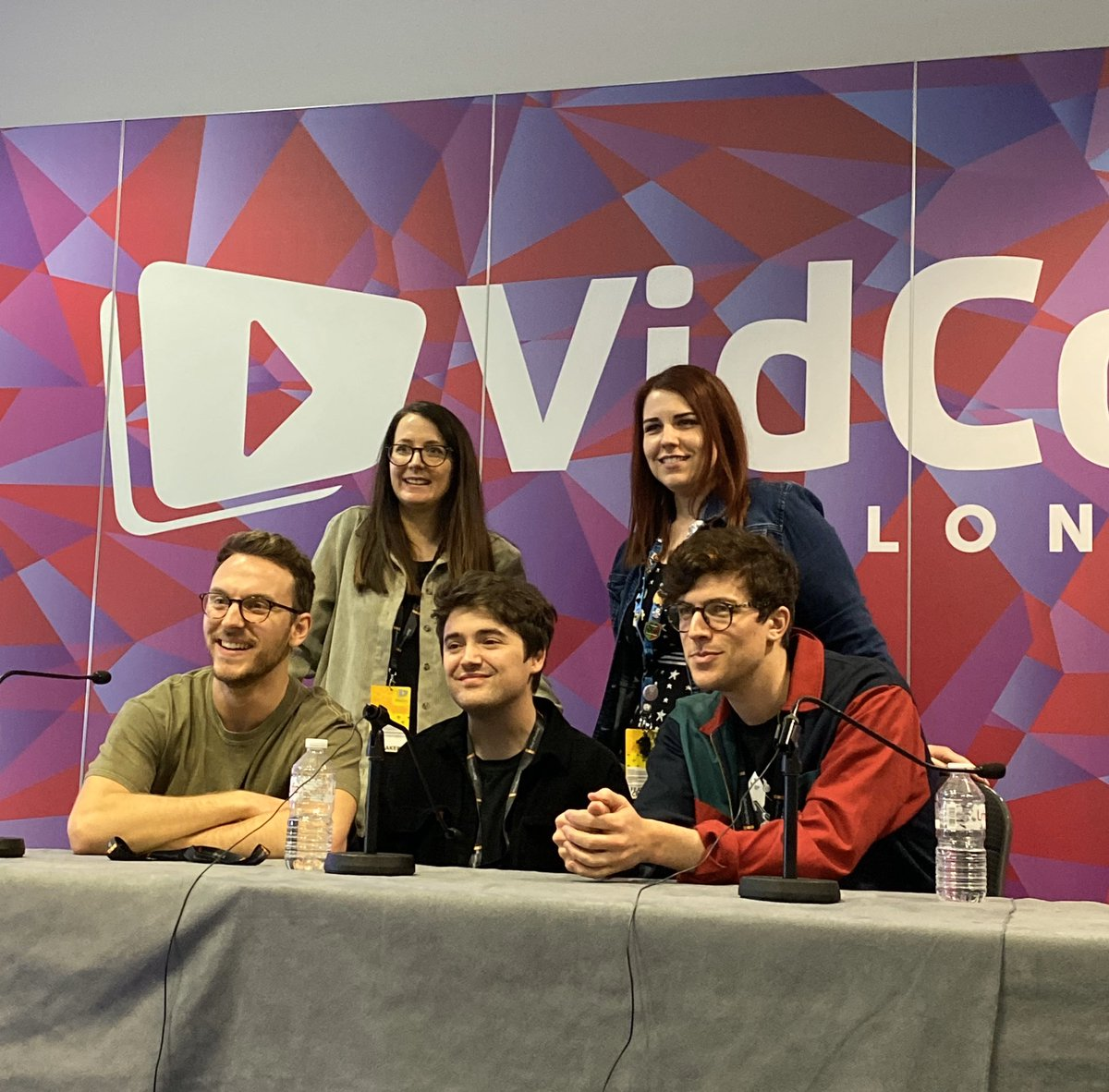 Another great panel, a chat with the storytellers of tomorrow #VidConLDN #VidConLDNStorytellers @kickthepj @DeanDobbs – at ExCeL London