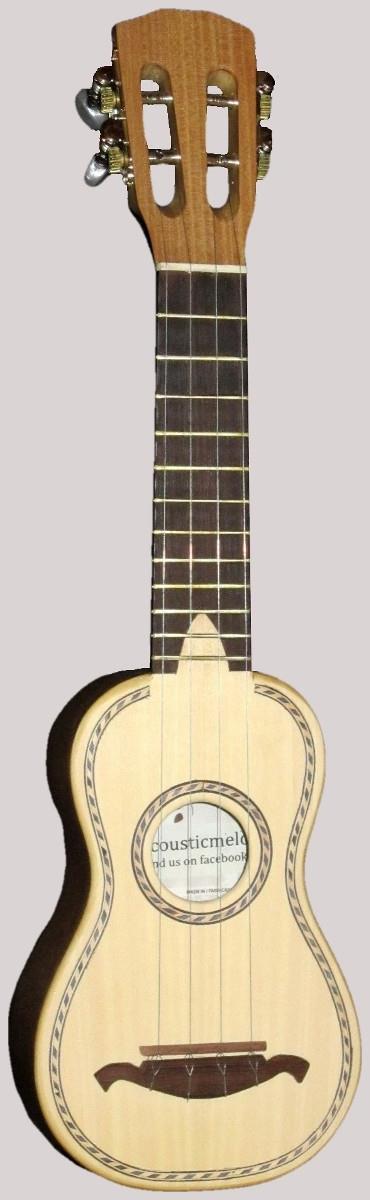Acousticmelo piccolo mini cavaquinho ukulele