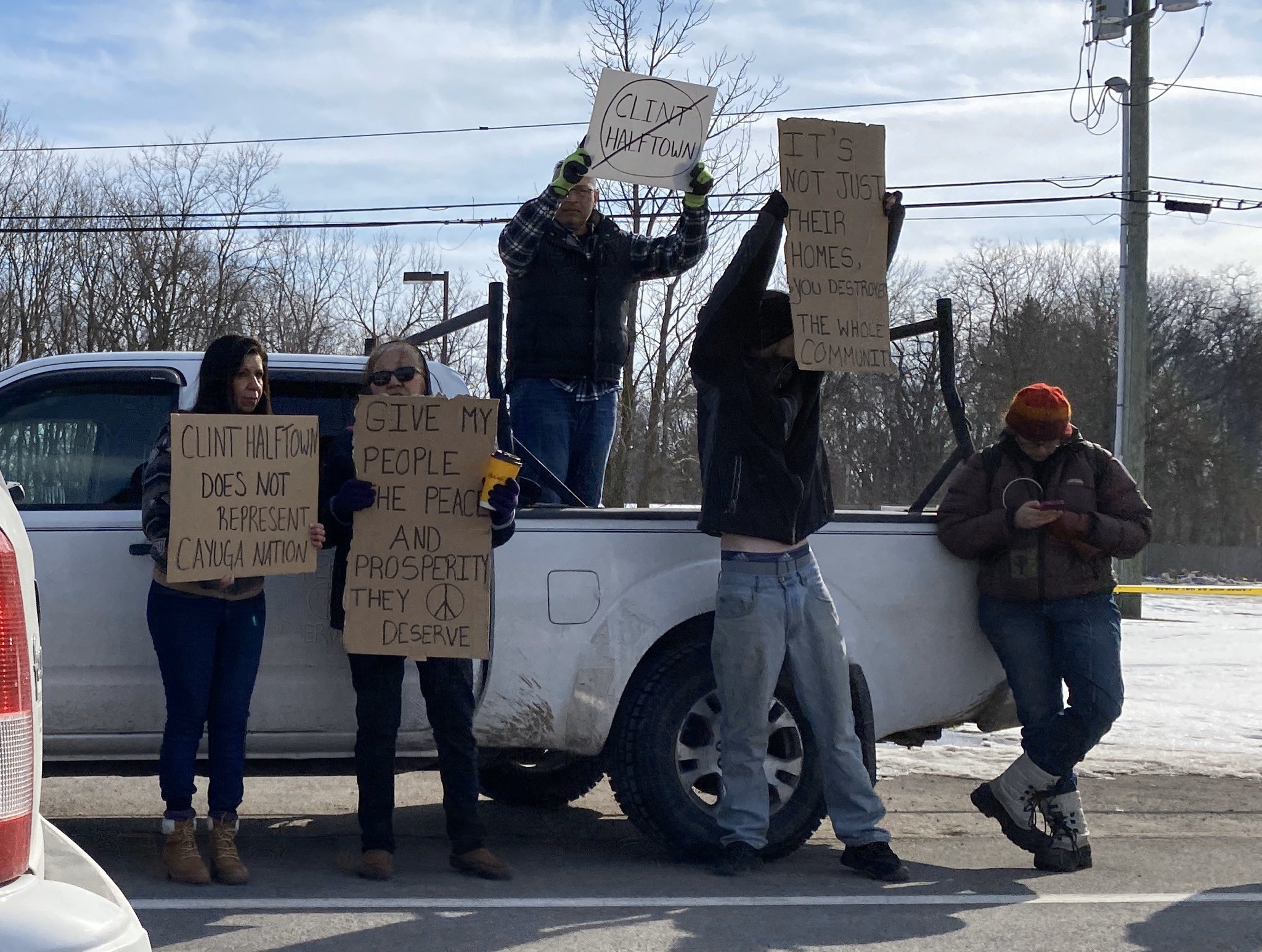 Protesters call for Halftown to step down after