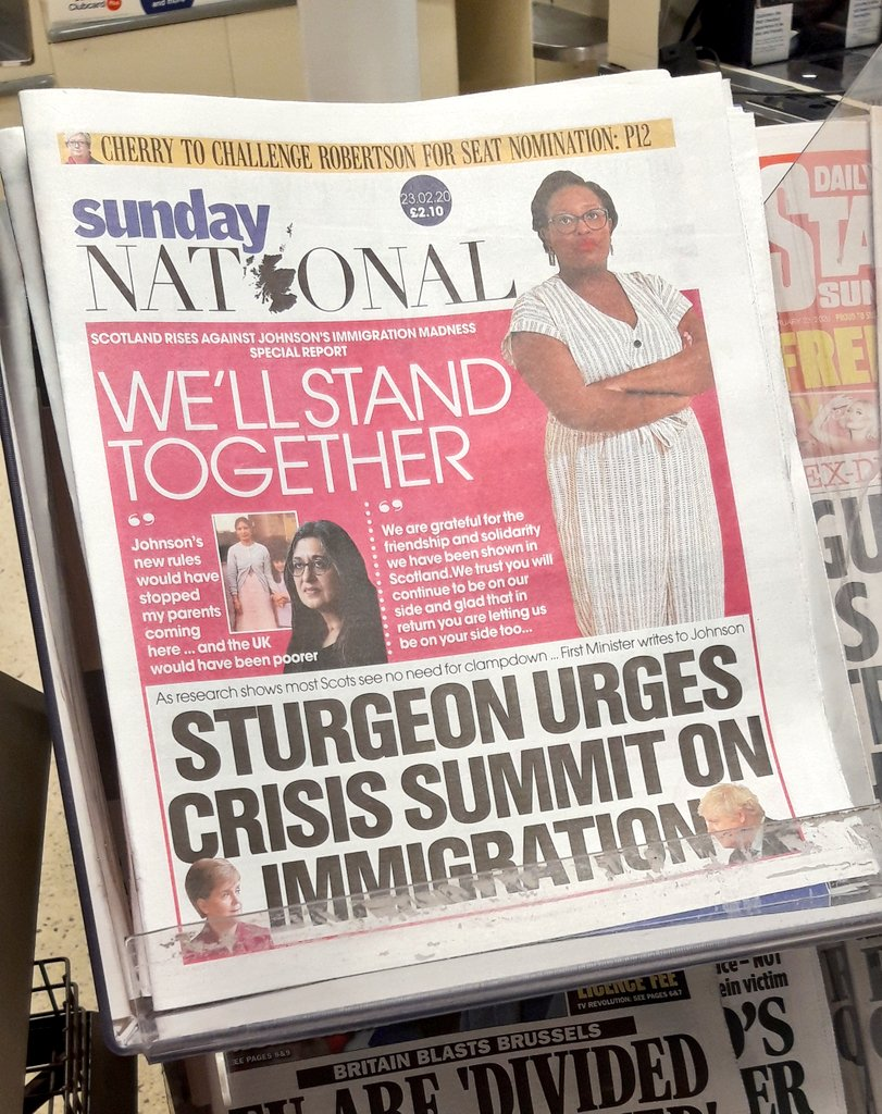 So #proud of @Terfele on the #frontpage of @ScotNational ! #Scotlandisnow