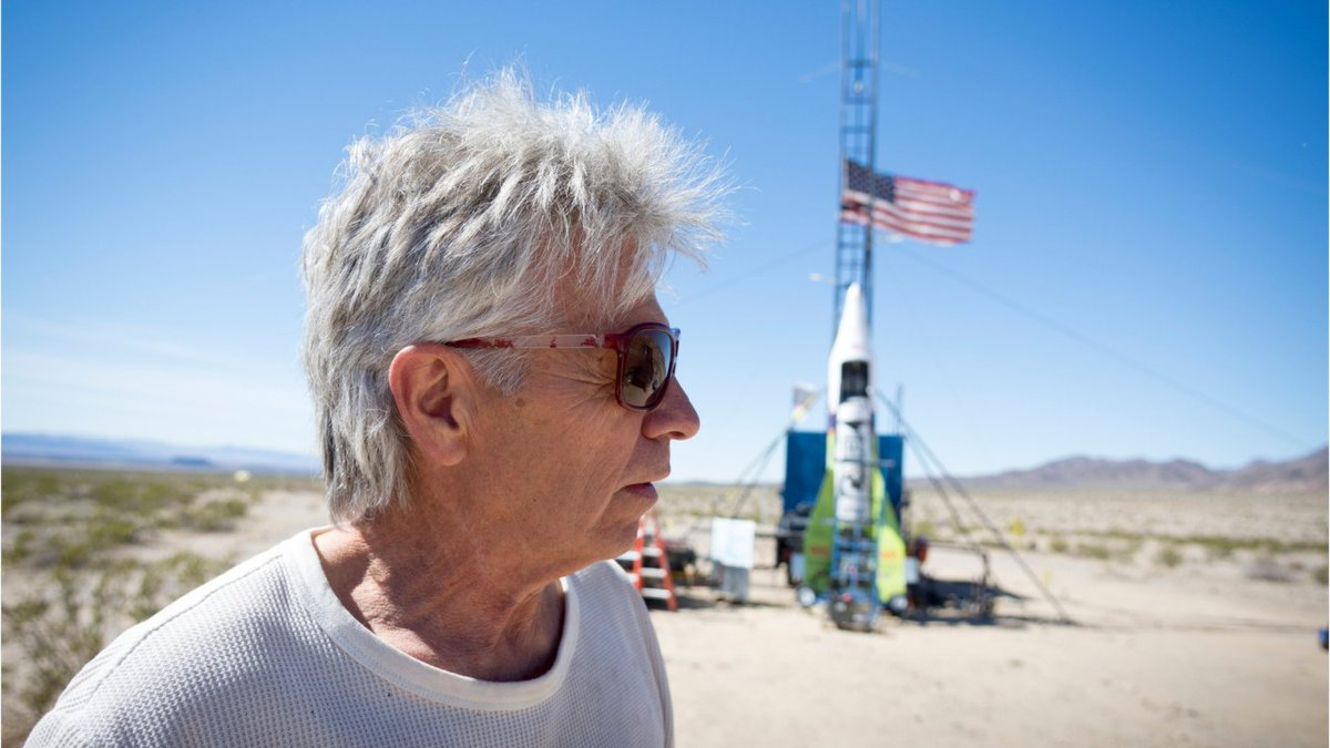 """Daredevil """"Mad"""" Mike Hughes was killed when his homemade, steam-powered rocket crashed shortly after takeoff near Barstow, California. https://bit.ly/2T8gw2z"""