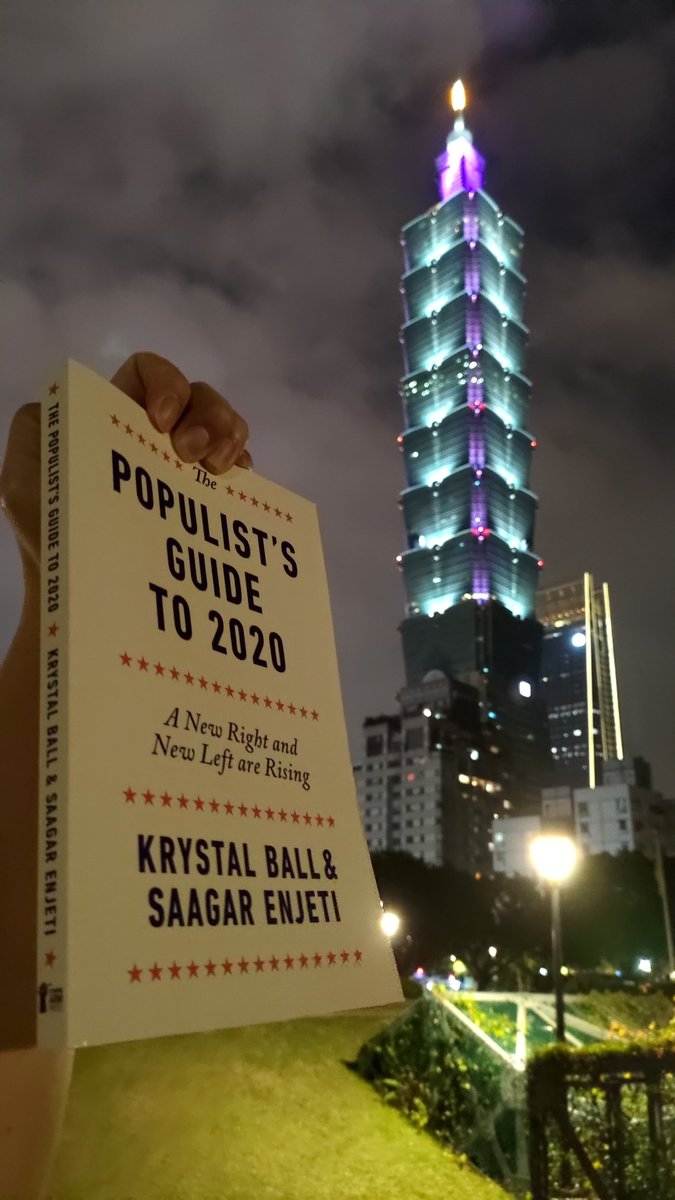 The shipping to Taipei, Taiwan took 2 weeks, but it has arrived! I had a chuckle over what you wrote about media pundits clutching their pearls. After Nevada It looks like they're losing their marbles too. @krystalball @esaagar #MSNBC #hardball #ChrisMatthews