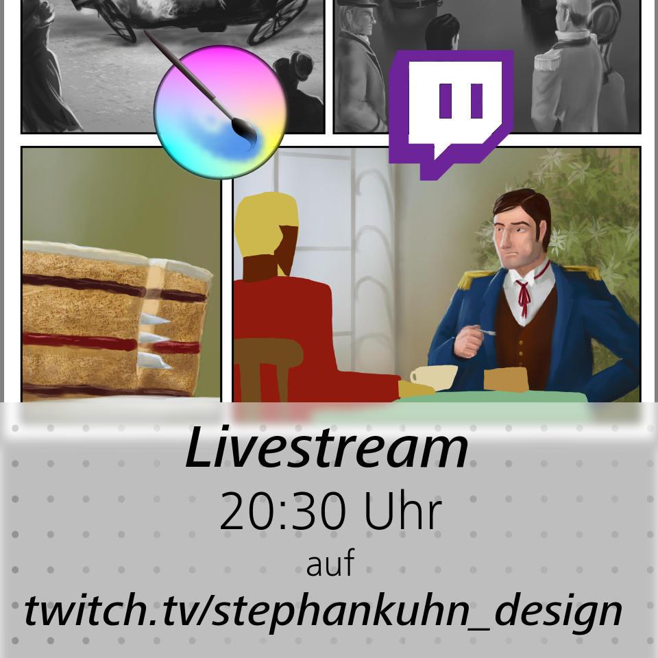Heute Abend gibt es wieder einen frischen Livestream! 20:30h auf Twitch http://twitch.tv/stephankuhn_design… #twitch #comic #zeichnen #steampunkpic.twitter.com/1bVfQvRCCa