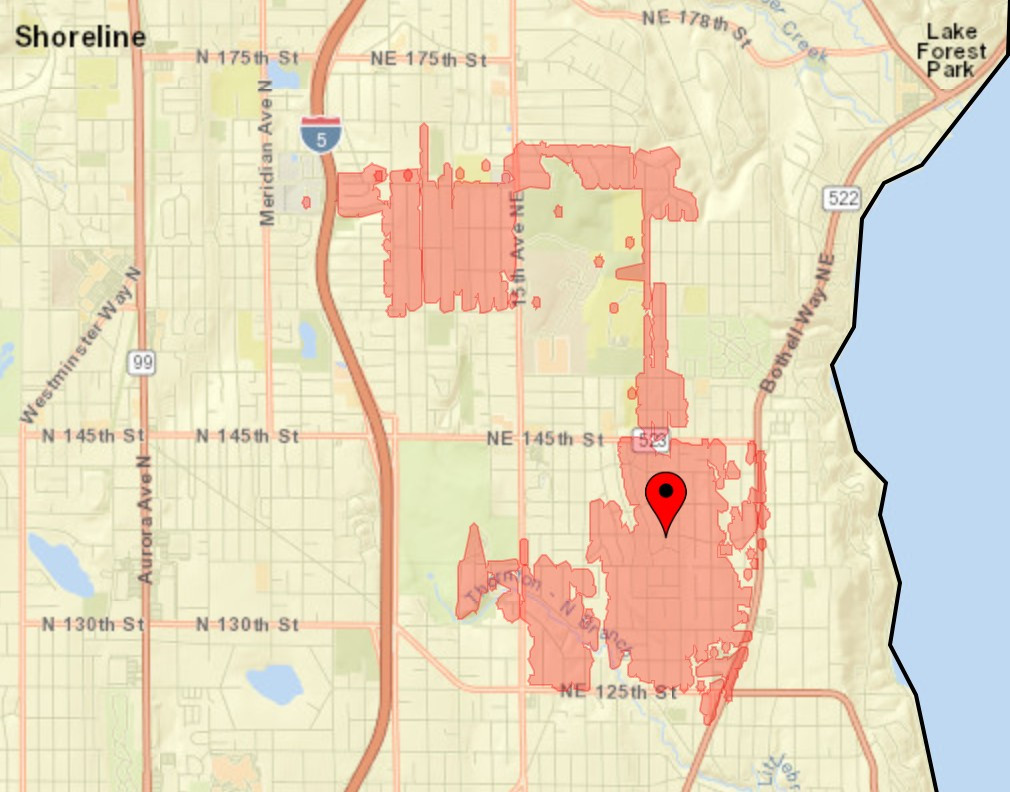 shoreline power outage map Seattle City Light On Twitter Crews Are Responding To An Outage