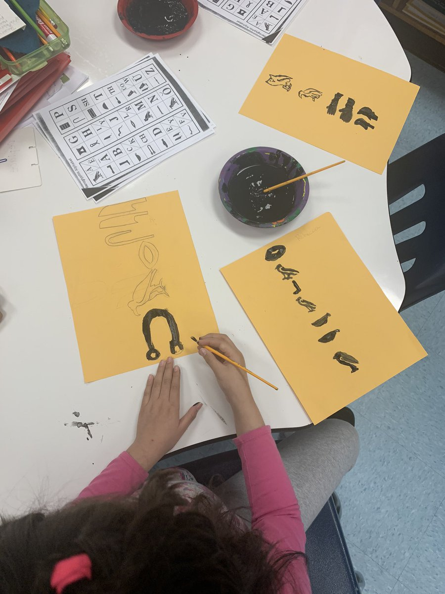 3rd graders are deep into our expedition on ancient civilizations with ancient Egypt as our first stop. We had fun with Hieroglyphics and pyramids as we applied what we had learned about Ancient Egypt to heirarchy of survival. <a target='_blank' href='http://twitter.com/CampbellAPS'>@CampbellAPS</a> <a target='_blank' href='http://twitter.com/APSsocstudies'>@APSsocstudies</a> <a target='_blank' href='https://t.co/L13kGmPpb1'>https://t.co/L13kGmPpb1</a>