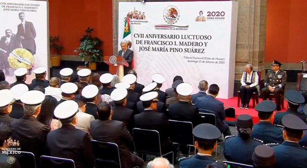 AMLO recuerda a Madero y Pino Suárez en su 107 aniversario luctuoso (EN VIVO)