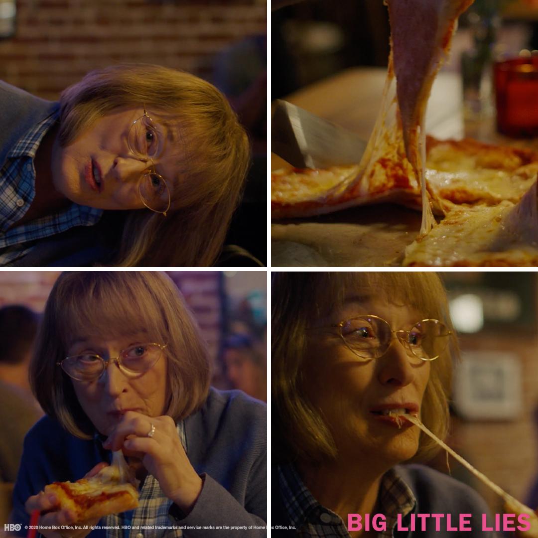 Only Meryl Streep could make eating pizza a true art form #BigLittleLies <br>http://pic.twitter.com/gwdlhozNdi