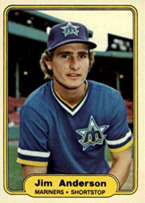 Happy 63rd birthday to Jim Anderson!   Anderson appeared in 186 games for the Mariners from 1980-1981.