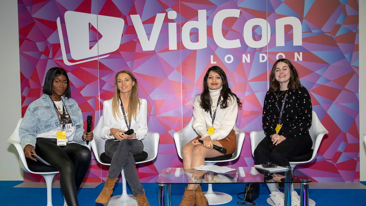 'When Women Create': an inspiring and empowering all-female panel to kick off #VidConLDN final day.   If you missed out, our favourites moments are below ✏️