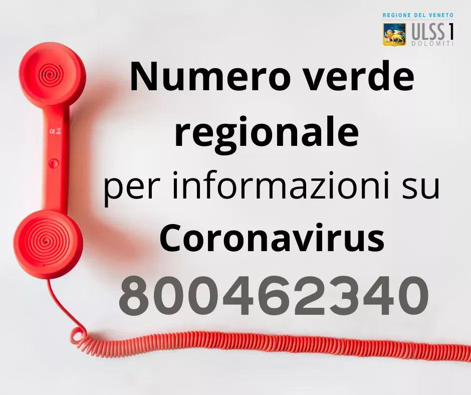 RT @RegioneVeneto: ATTIVO NUMERO VERDE REGIONALE 8...