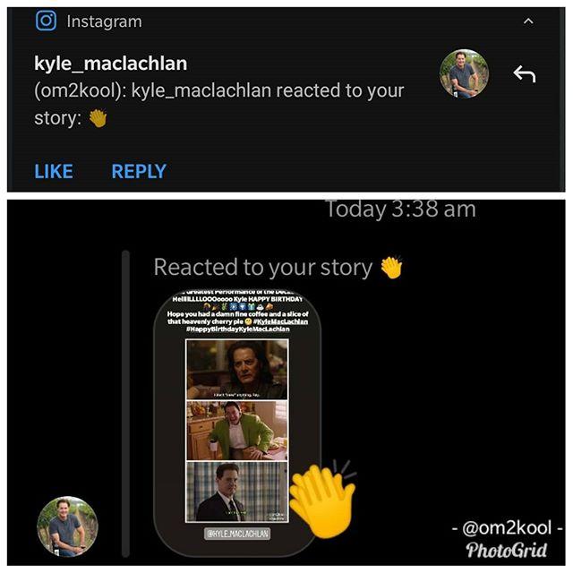 Damn Fine Thing to wake up to  Feels unreal. @kyle_maclachlan is awesome #kylemaclachlan #twinpeaks #fanboymoment #instatwinpeaks #instacinema #instatv #instapic  https://www.instagram.com/p/B86qd19p0Ix/ via https://tweet.photopic.twitter.com/YvelUO0ug8