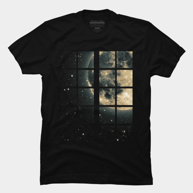 at Window @designbyhumans by @Boby_Berto  #digitalart #moon #fullmoon #window #night #stars #cool #modern #landscape #tshirt #tshirts #tshirtdesign
