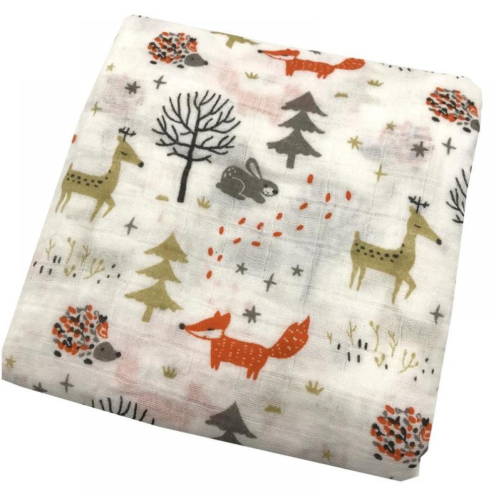 #cool #pink Muslin Swaddling Wrap Blanket