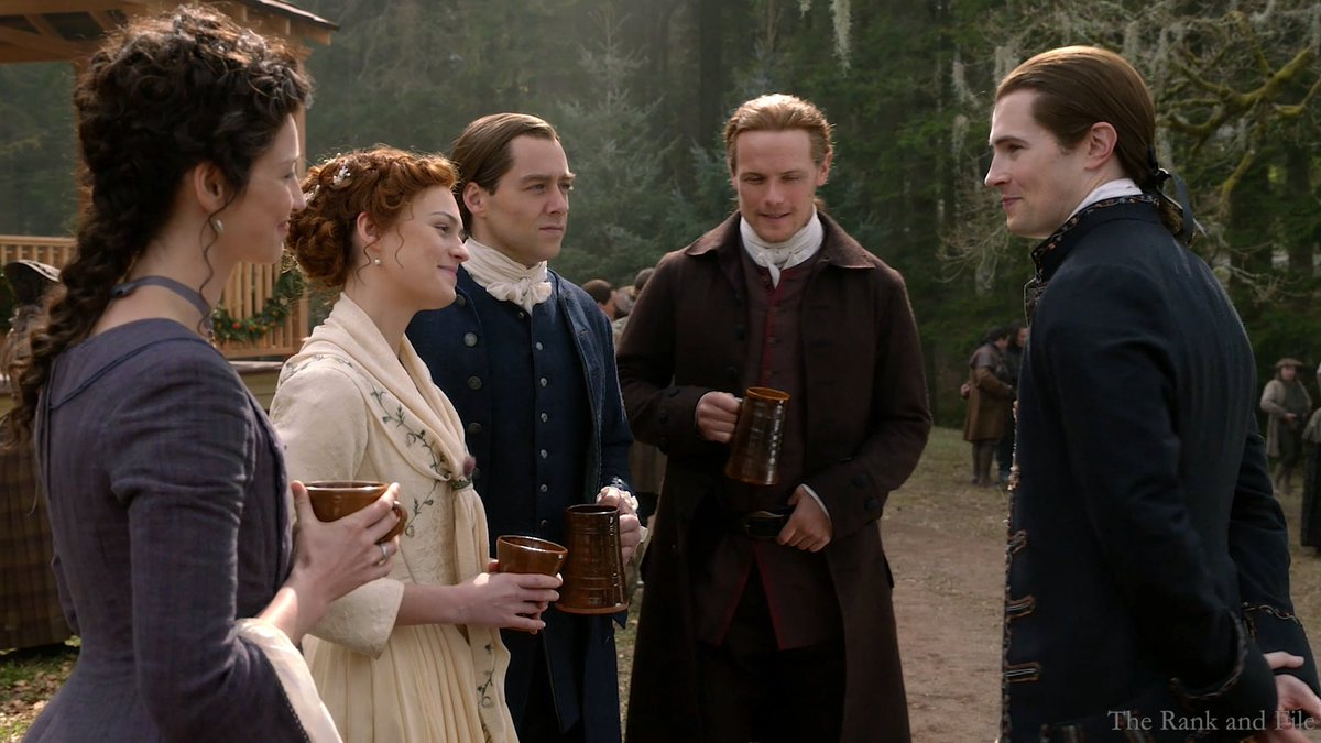 💖❤️💖Happy Monday Sassenachs 💖❤️💖🙋‍♀️🦋🌈🥳🐛🐣🐝🐞🦄🐶💦☃️🌻🐢🐼🌺🌈Wishing Everyone a Wonderful Day and Evening ! #davidberry #lordjohngrey #outlander #roger #brianna #claire #jamie #wedding #season5